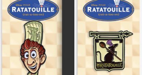 Ratatouille Mondo Disney Pins