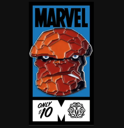 The Thing Fantastic Four Mondo Marvel Pin
