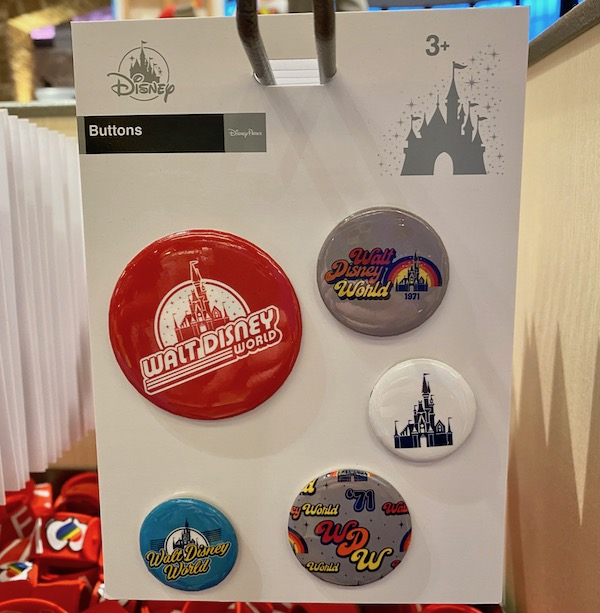 Walt Disney World Retro Button Set