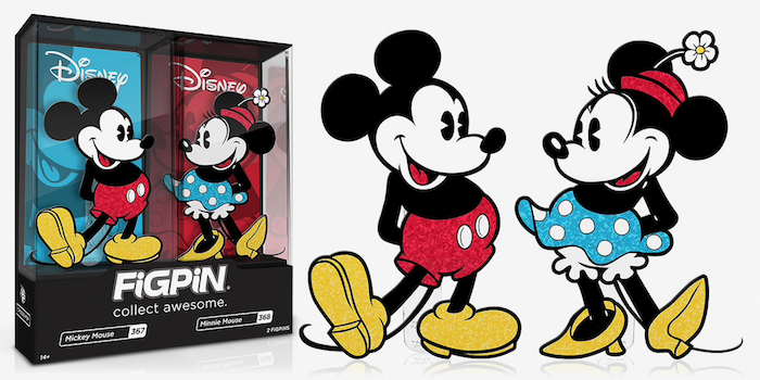 Figpin Mickey Mouse Minnie Mouse Glitter Pin Set Disney Pins Blog