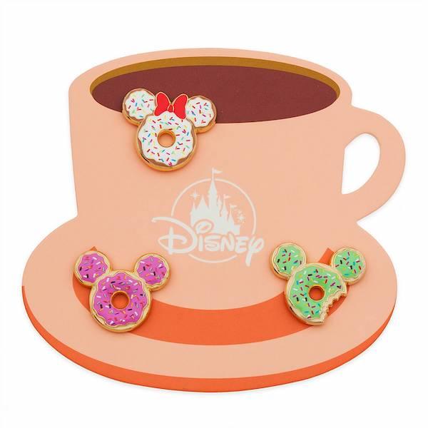Mickey and Minnie Donut Series 2 Disney Pin Set