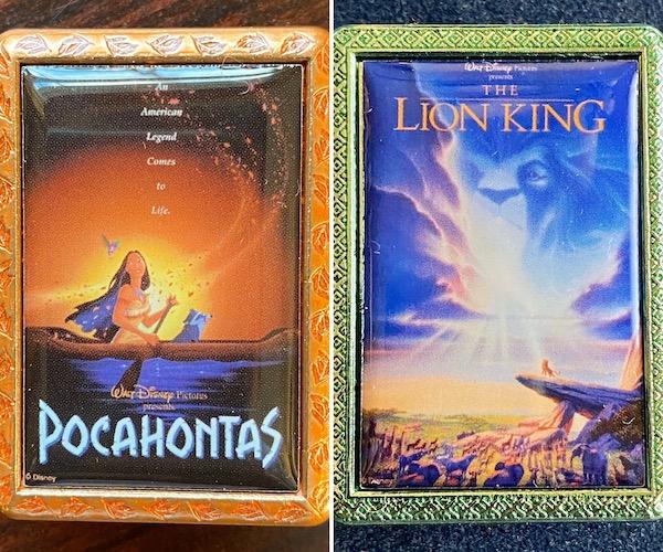 Pocahontas & The Lion King Disney Movie Poster Mystery Pins