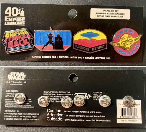 Star Wars Empire Strikes Back 40th Anniversary Pin Set at Target