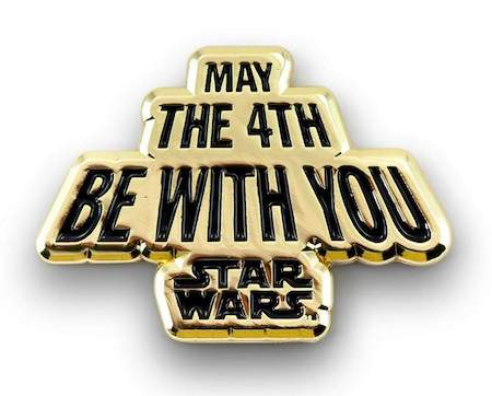 Star Wars May the Fourth Be With Gold Pin