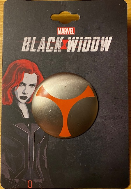 3D Taskmaster Shield Marvel Black Widow Pin