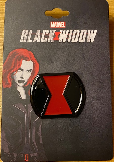 Belt Buckle Marvel Black Widow Pin