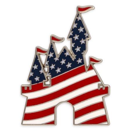Fantasyland Castle Americana Disney Pin