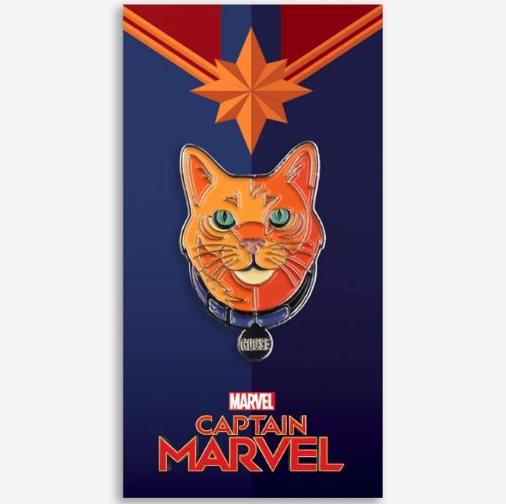 Goose Captain Marvel Mondo Pin