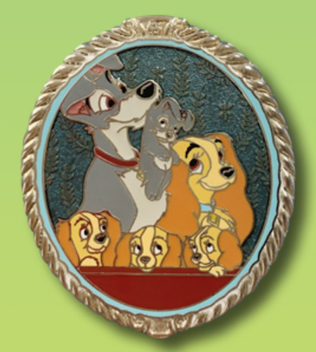 Lady and the Tramp Portrait Pin - 65th Anniversary