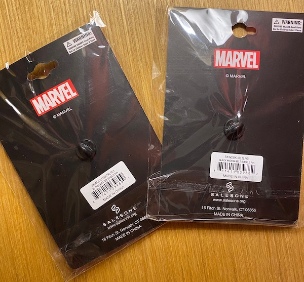 Marvel Black Widow SalesOne Pins