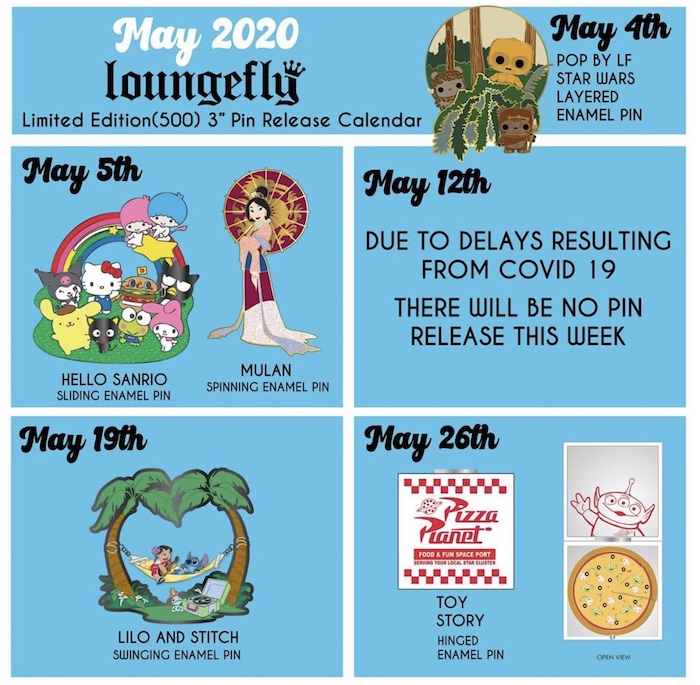 May 2020 Loungefly Disney Pin Preview