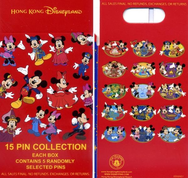 Mickey & Minnie Hong Kong Disneyland Anniversary Mystery Pin Collection