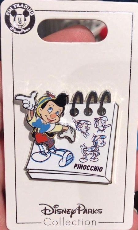 Pinocchio Sketchpad Shanghai Disney Pin