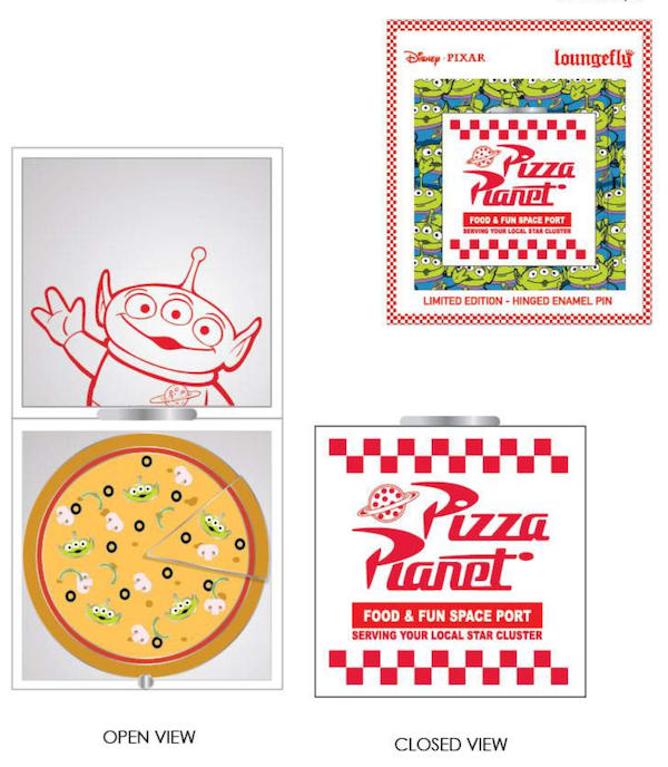 Pizza Planet Limited Edition Loungefly Disney Pin