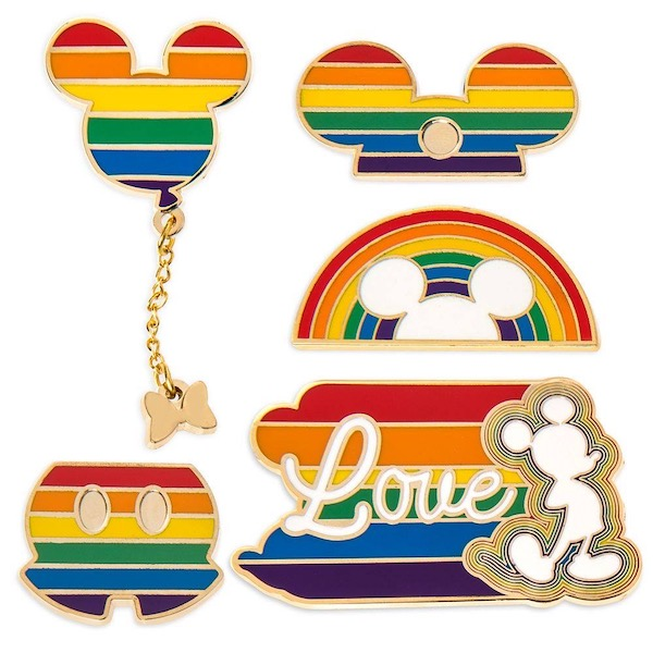 Rainbow Mickey 2020 Disney Pin Set