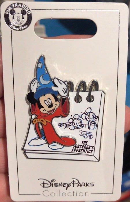 Sorcerer Mickey Sketchpad Shanghai Disney Pin