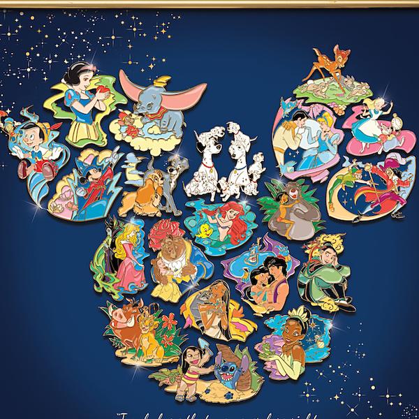 Bradford Exchange Ultimate Disney Puzzle Pin Set