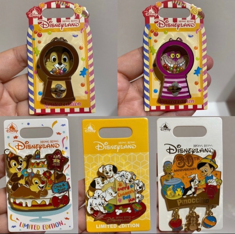 February - March 2020 Hong Kong Disneyland Pins