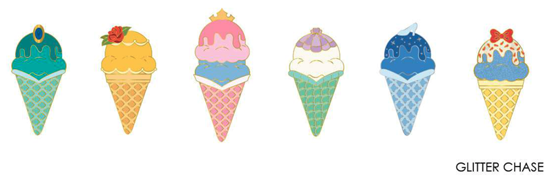 Loungefly Princess Ice Cream Cones Mystery Pins