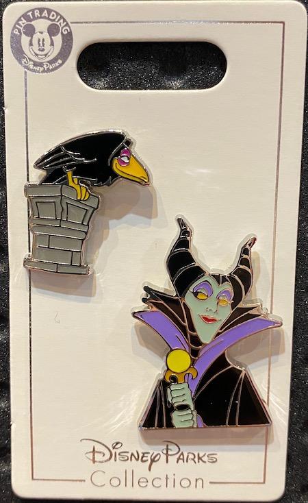 Maleficent and Diablo Disney Pin Set