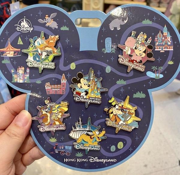 Mickey & Friends Hong Kong Disneyland Pin Set