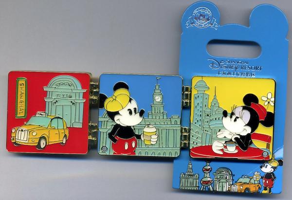 Mickey & Minnie Double Hinged Shanghai City 2020 Pin