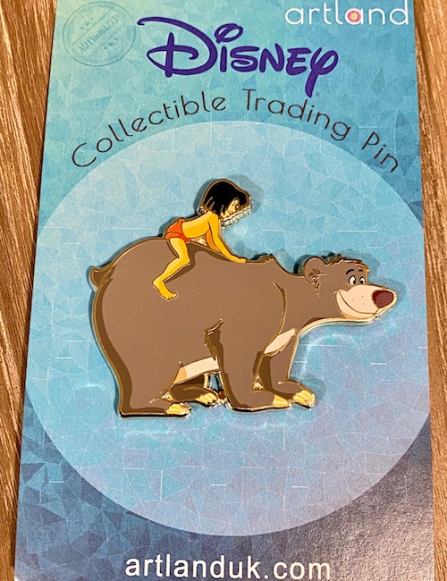 Mowgli on Baloo The Jungle Book ArtLand Pin
