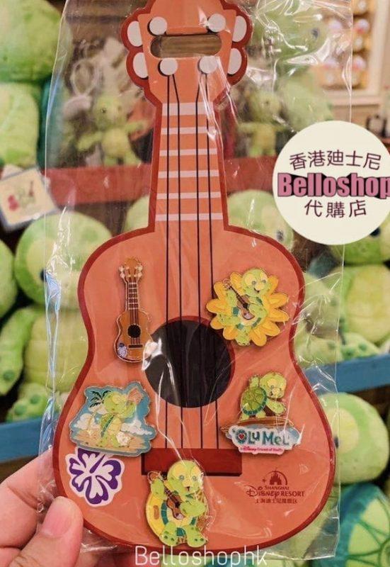 Olu Guitar Shanghai Disneyland Pin Set