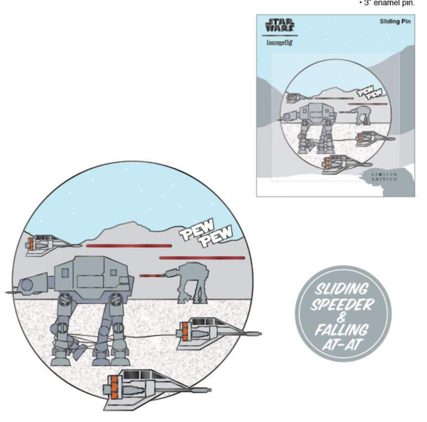 Pew Pew Limited Edition Loungefly Star Wars Pin