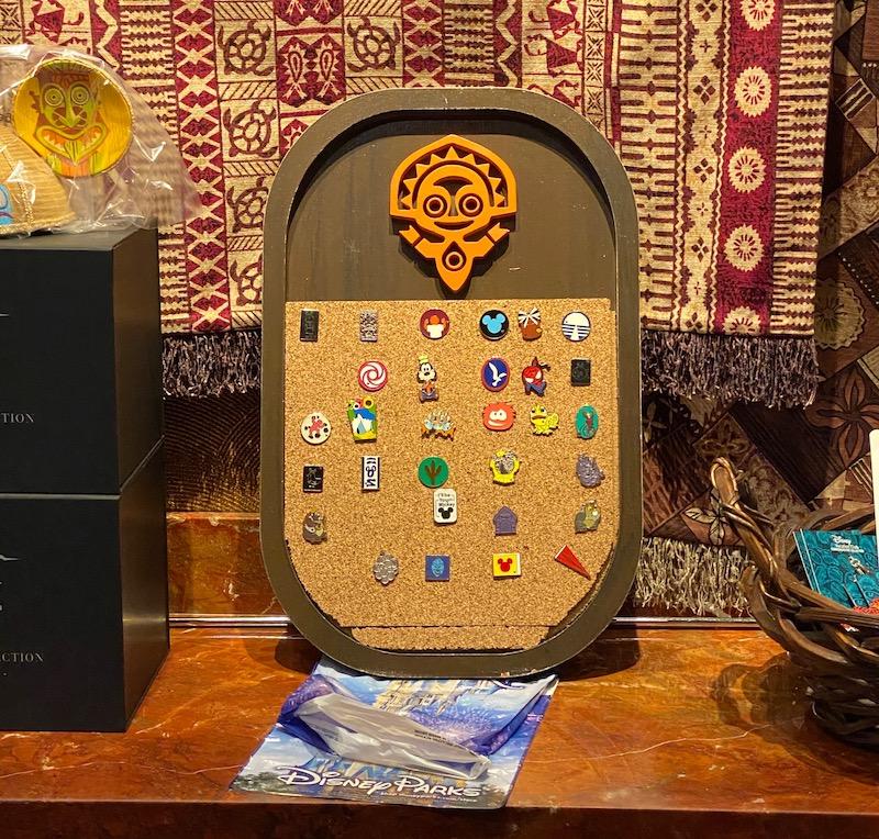 Pin Trading Board at Disney's Polynesian Village Resort