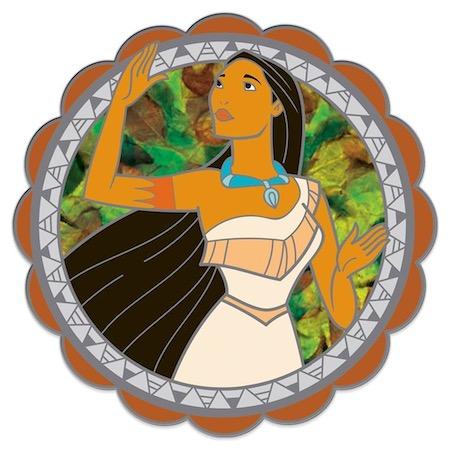 Pocahontas 25th Anniversary Spinning Pin