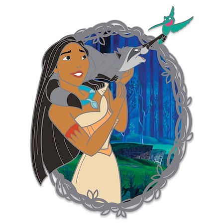 Pocahontas with Meeko and Flit 25th Anniversary Pin