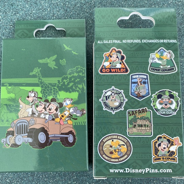 Safari Mystery Disney Pin Set