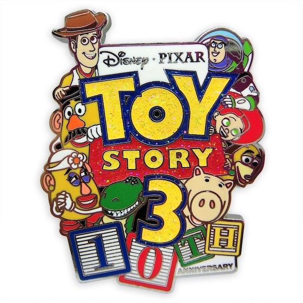 Toy Story 3 10th Anniversary Disney Pin