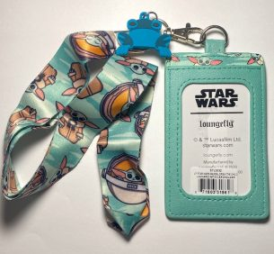 Back of Loungefly Star Wars The Mandalorian Lanyard