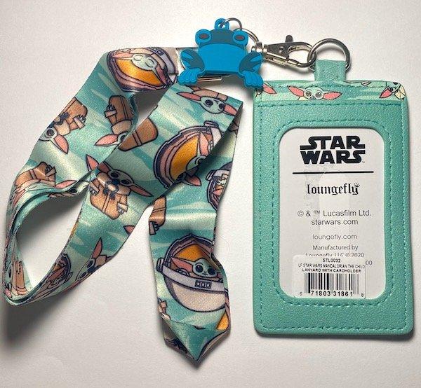 Back of Loungefly Star Wars The Mandalorian Lanyard