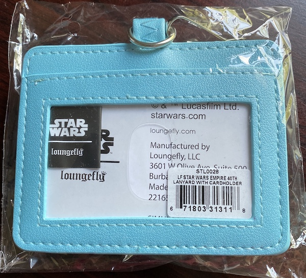 Back of Star Wars Empire Strikes Back Loungefly Lanyard
