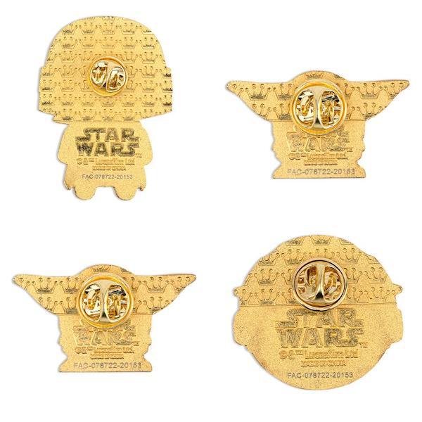Back of Star Wars The Mandalorian Loungefly Pin Set