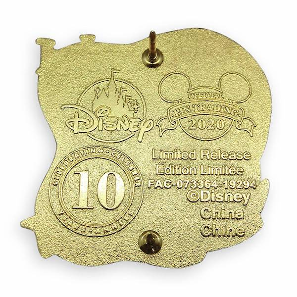 Back of Tangled 10th Anniversary Limited Release Pin
