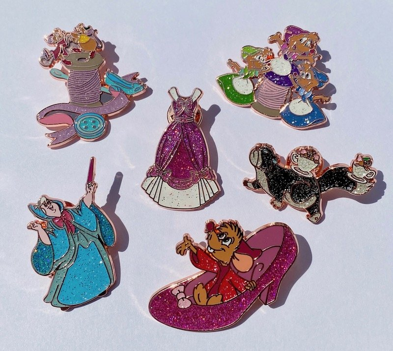 Cinderella 70th Anniversary Loungefly Mystery Pins