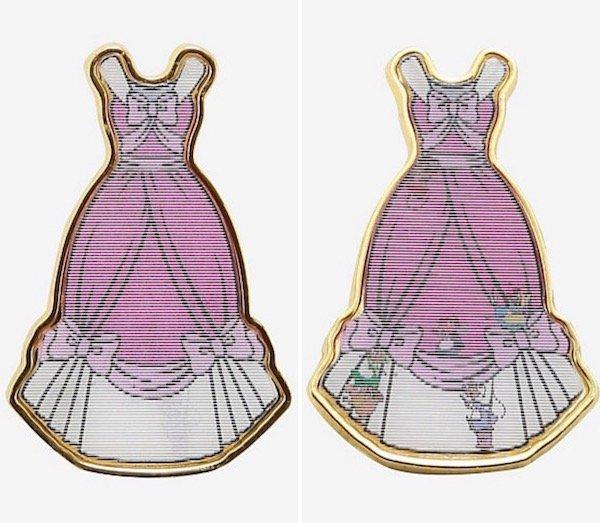 Cinderella Dress Lenticular BoxLunch Disney Pin