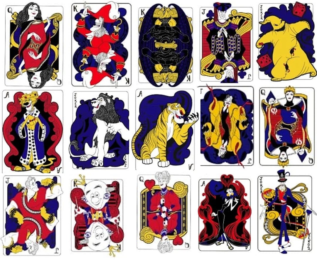 Disney Villains Playing Cards