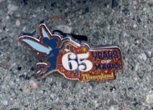 Disneyland 65th Anniversary Limited Release Mystery Chaser Pin