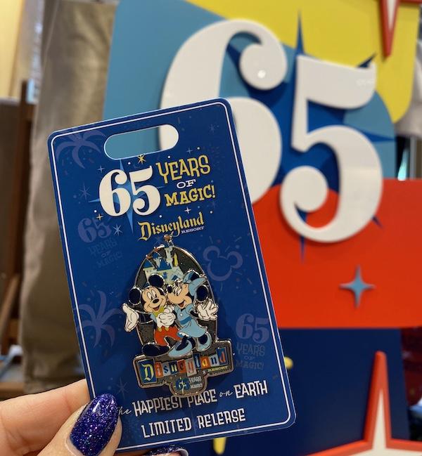 Disneyland Park 65th Anniversary Logo Pin