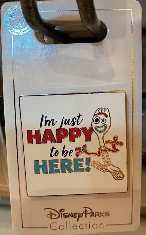 Forky Happy to be Here Toy Story Pin