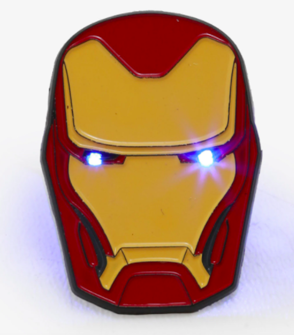 Hot Topic Iron Man Light Up Pin