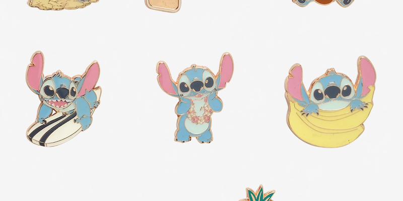 Loungefly Disney Pin Lilo /& Stitch Summer Series Blind Box Wearing A Lei