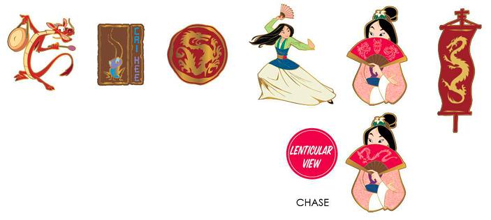Loungefly Disney Mulan Mystery Pins