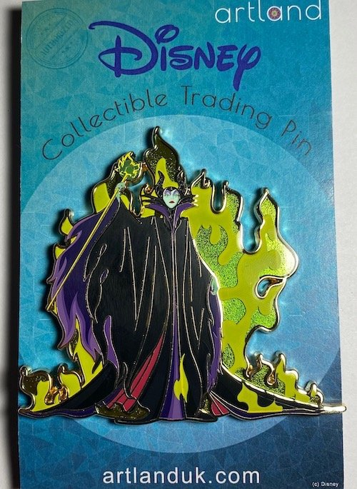 Maleficent Cut Out ArtLand Pin