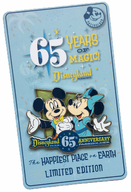 Mickey & Minnie DLR 65th Passholder Pin